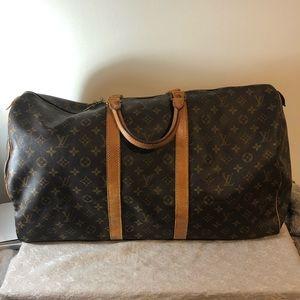 Louis Vuitton keepall 55 duffle bag